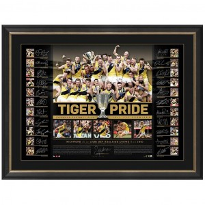 RICHMOND 2017 AFL PREMIERS TEAM SIGNED 'TIGER PRIDE'
