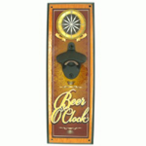 BEER O'CLOCK WALL MOUNTED BOTTLE OPENER