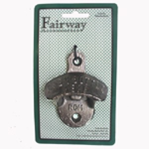 FAIRWAY CAST IRON WALL MOUNTABLE BOTTLE OPENER