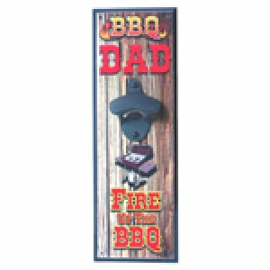 BBQ DAD WALL MOUNTED BOTTLE OPENER