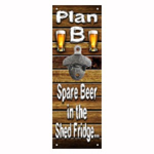 PLAN B WALL MOUNTED BOTTLE OPENER