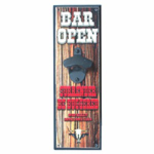 BAR OPEN SURRENDER BE BUGGERED WALL MOUNTED BOTTLE OPENER