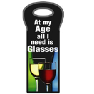 ALL I NEED IS GLASSES WINE CARRY BAG
