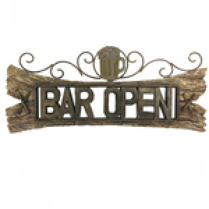 COLONIAL STYLE BAR OPEN SIGN