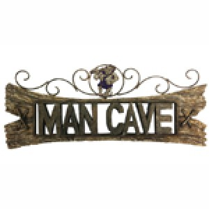 COLONIAL STYLE MAN CAVE SIGN